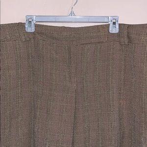 Ann Taylor low rise brown plaid dress pant